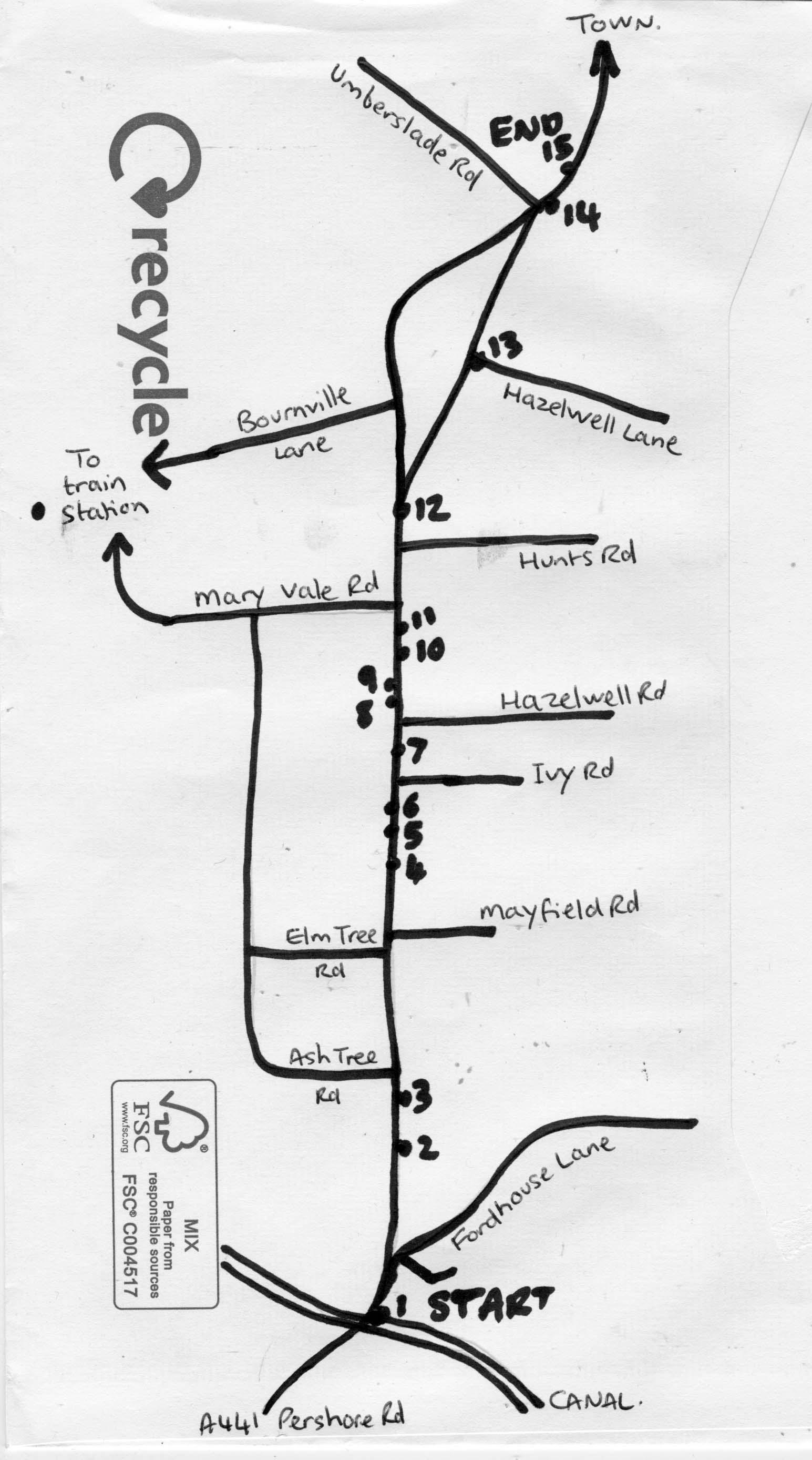 Stirchley high street highlights map